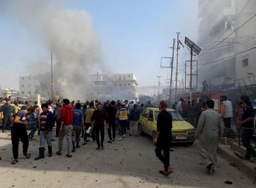 叙利亚阿勒颇省发生汽车爆炸袭击 致15人死亡_巴卜市