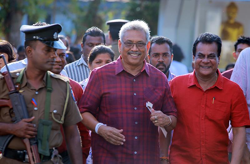 斯里兰卡总统大选:拉贾帕克萨宣布锁定胜局