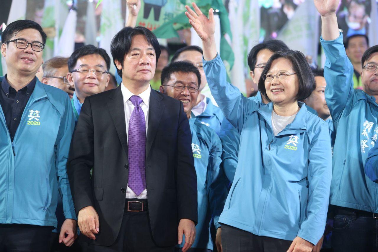 蔡英文高雄竞选总部昨成立,赖清德表情亮了_政治