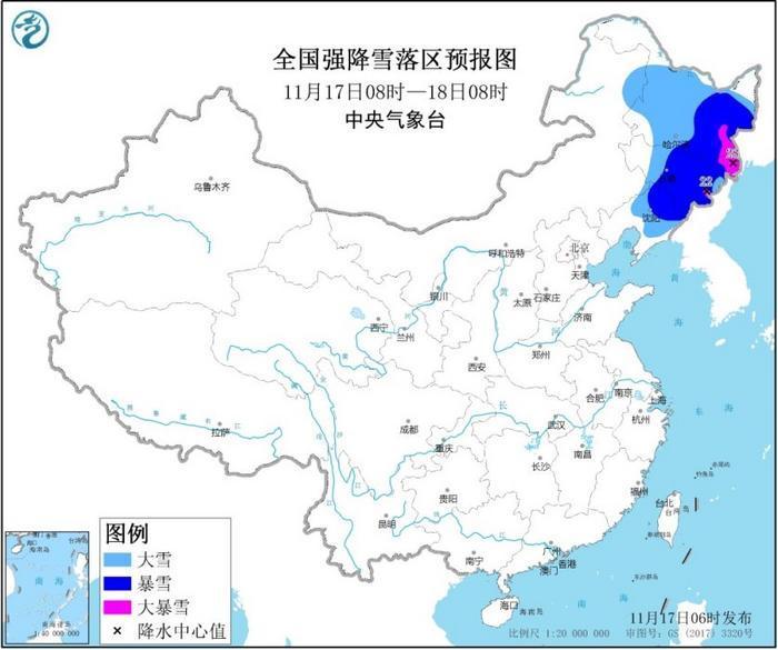 中央气象台发布暴雪黄色预警 内蒙古等地有大到暴雪_吉林