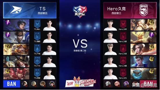 KPL:大劣翻盘 TS 4:2 淘汰Hero久竞晋级败者组第三轮