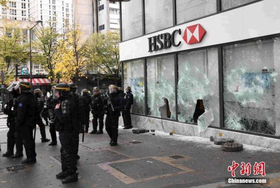 """法国""""黄马甲""""游行:警方逮捕上百名暴力示威者_运动"""