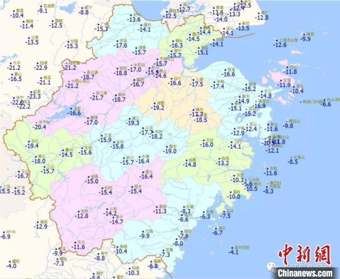 中国矿泉水品牌浙江迎冷空气气温骤降近20℃ 多