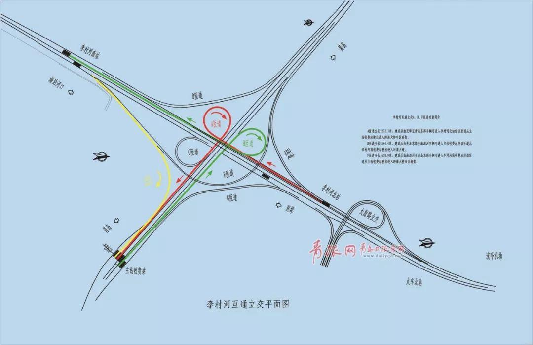 李村河互通立交平面图.