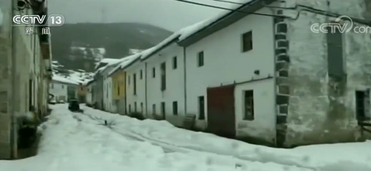 西班牙连降大雪 北部地区已启动极端天气预警