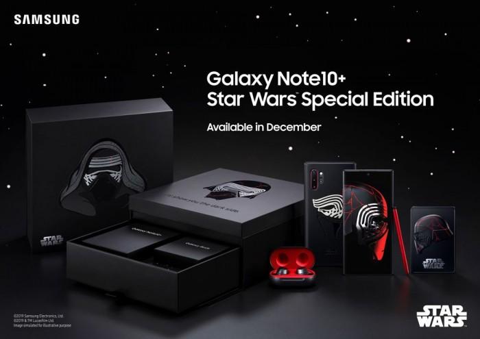 [图]联动星球大战9:三星推出特别版GalaxyNote10+套装