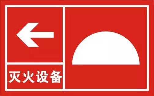 手提式灭火器   标示手提式灭火器的位置.
