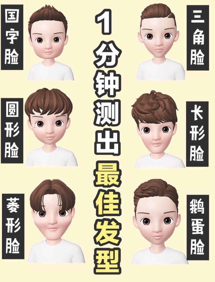男生自测脸型丨选好发型 颜值超级翻倍