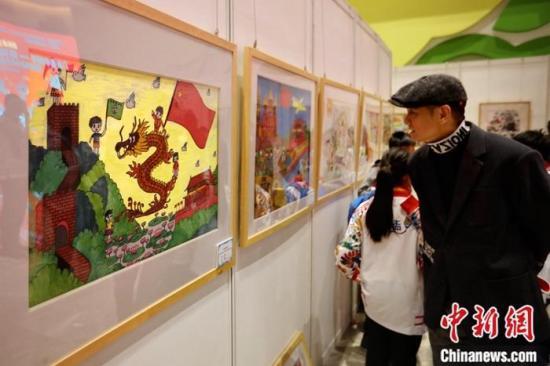 99幅澳门儿童绘画作品亮相北京庆祝澳门回归20周年