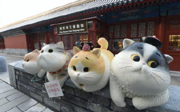"""故宫""""御猫驾到""""啦,神武门现巨型猫咪!"""