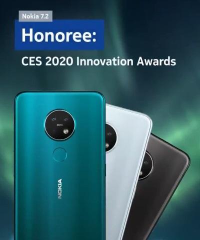 诺基亚7.2获CES2020最佳创新奖