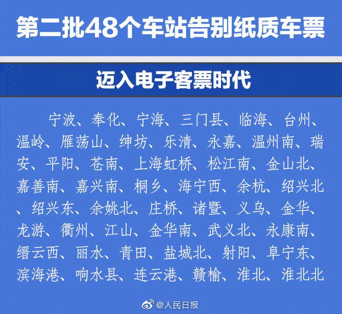 第二批48个火车站将告别纸质车票_应用