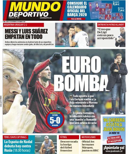 5-0大胜后西班牙主帅含泪告别!恩里克马上回归_罗贝托