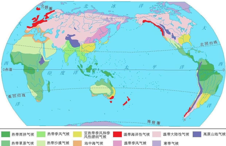 为什么在大陆东岸地区,也有地中海气候和温带海洋气候