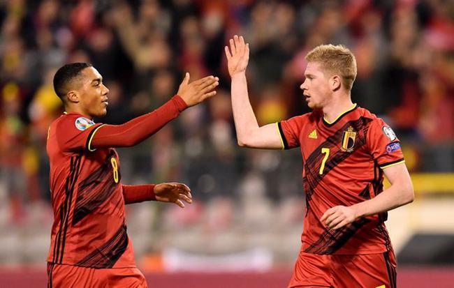 欧预赛-德布劳内两射一传 比利时6-1大胜塞浦路斯