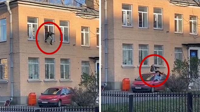 嫌疑人从俄罗斯一警察局跳窗逃跑手上还铐着暖气片_窗户