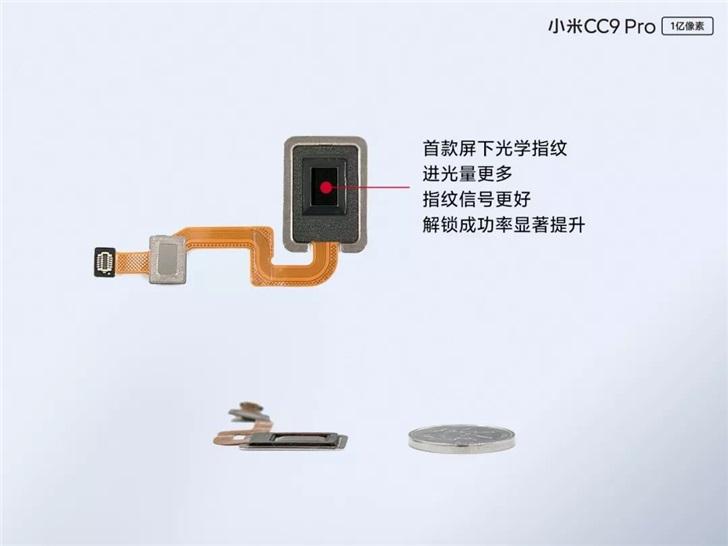 官方详解小米CC9 Pro新技术,全球首款超薄屏下光学指纹_透镜