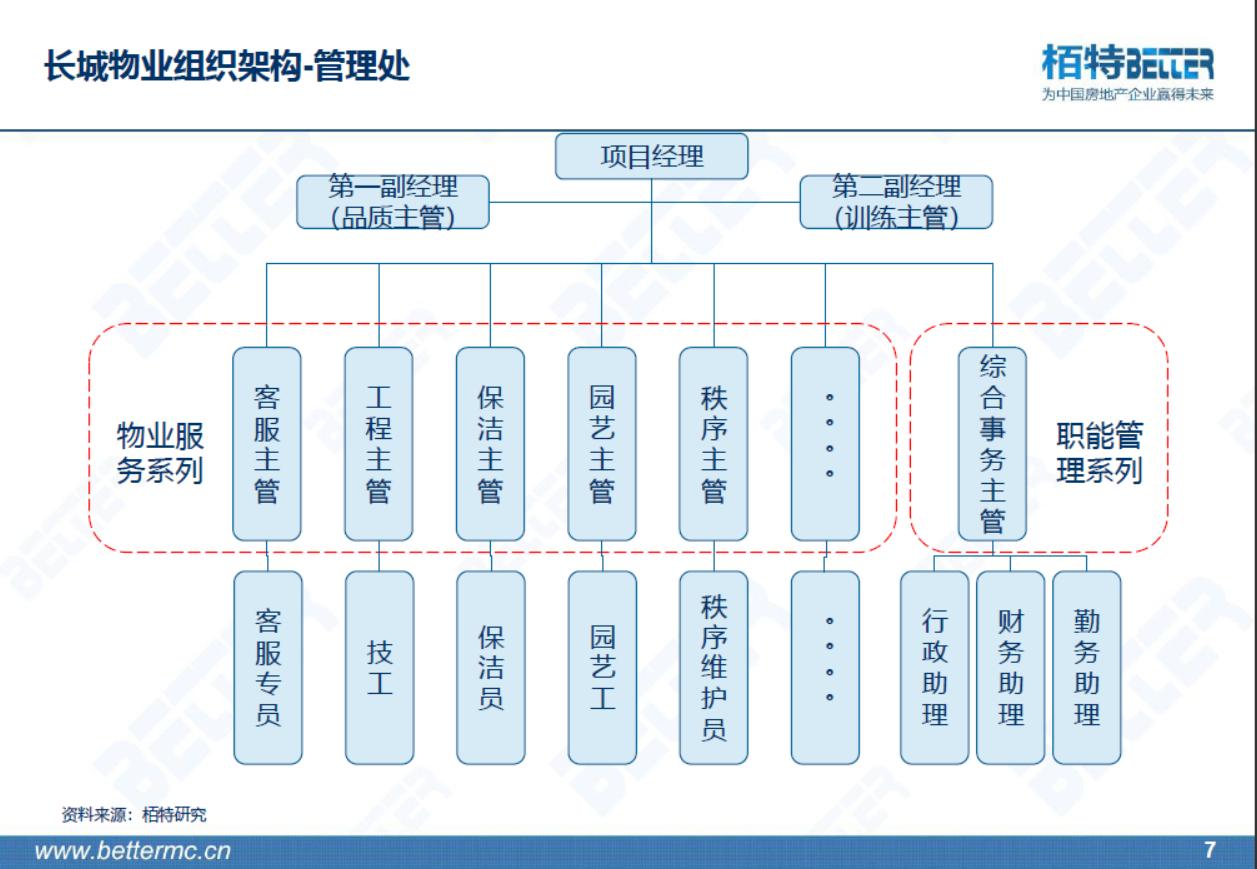 中型物业公司架构图