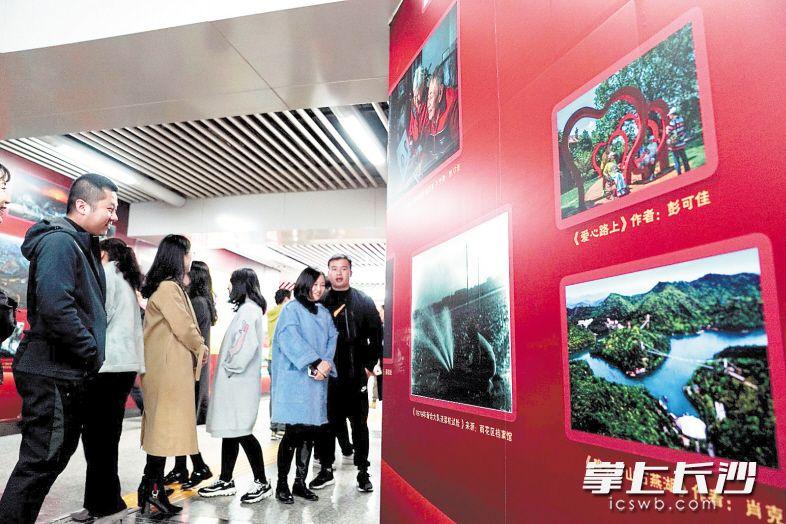 70张新老照片组成的影像墙亮相地铁2号线沙湾公园站 讲述雨花蝶变故事