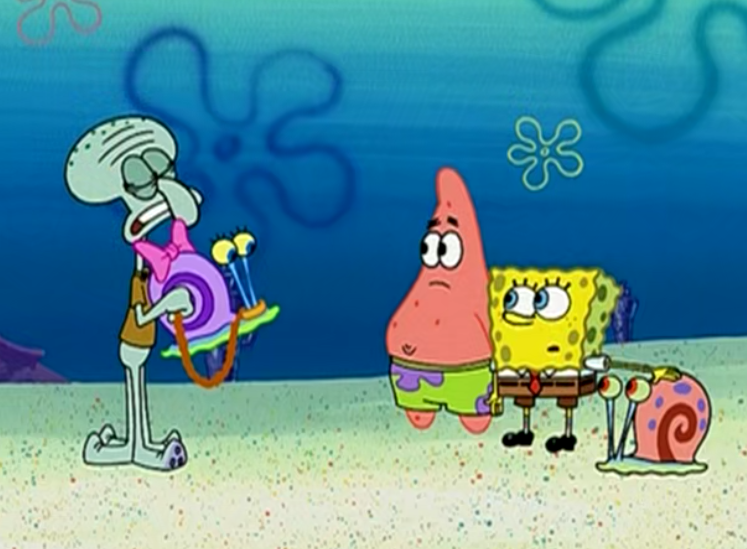 原创 比奇堡举办蜗牛大赛,海绵宝宝强迫小蜗去参加,不料却收获了爱情