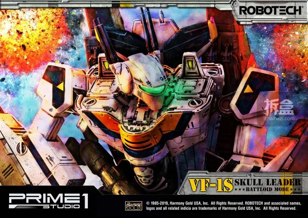 Prime1Studio《太空堡垒》VF-1S骷髅1号机人形状态雕像_保丽石