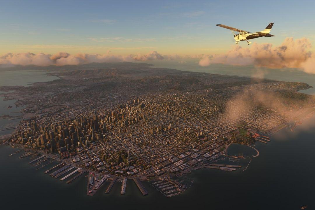 2097352GB地圖數據,AI技術酷炫渲染,《微軟飛行模擬器》游戲即將上線