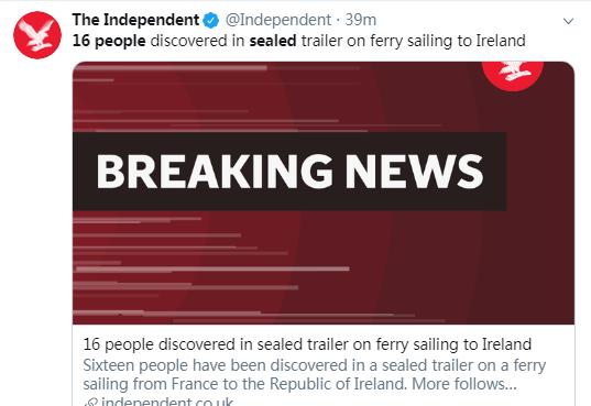 又一起!从法国到爱尔兰的渡轮密封拖车中发现16人_中欧新闻_欧洲中文网