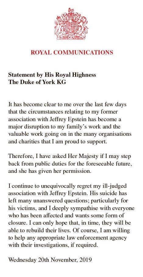 被女王剥夺王室职务,私人秘书遭解雇,安德鲁赴美配合调查或被捕