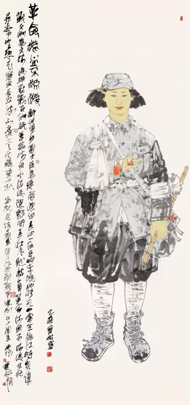 中国画家张宝松中国画人物画作品欣赏