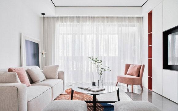原创家庭装修要懂得变通,学她家这样装,定制电视柜让客厅更大更实用