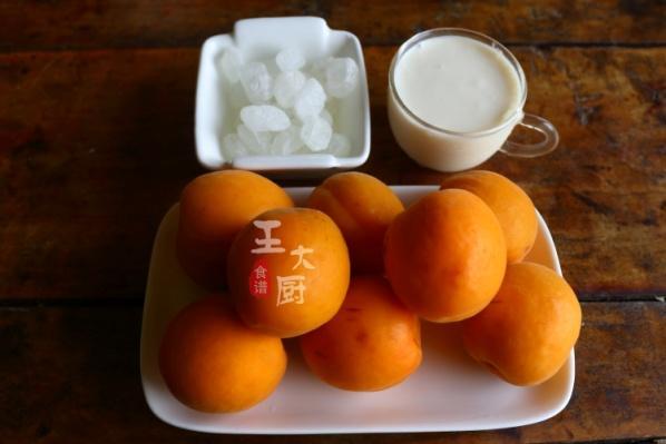 酸甜可口的杏肉酸奶,吃过不用去冷饮店了,太好吃了