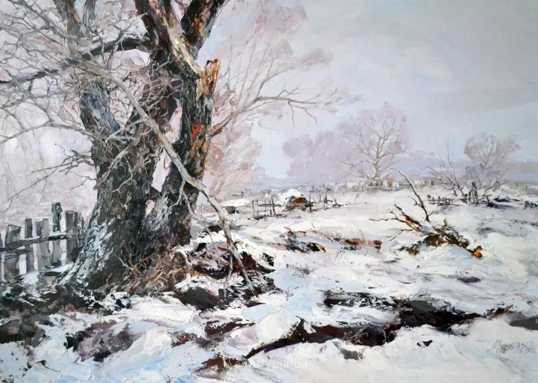 哈萨克斯坦画家穆辛·伊里克·拉希多维奇风景油画作品赏析