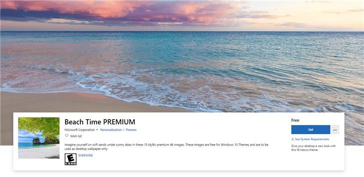 享受沙灘時光:微軟發布Windows 10 Beach Time 4K主題包_壁紙