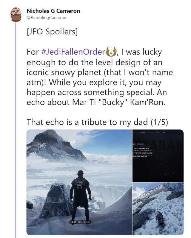 《星战绝地》设计师借游戏悼念父亲:父子俩都做过星战游戏_Cameron