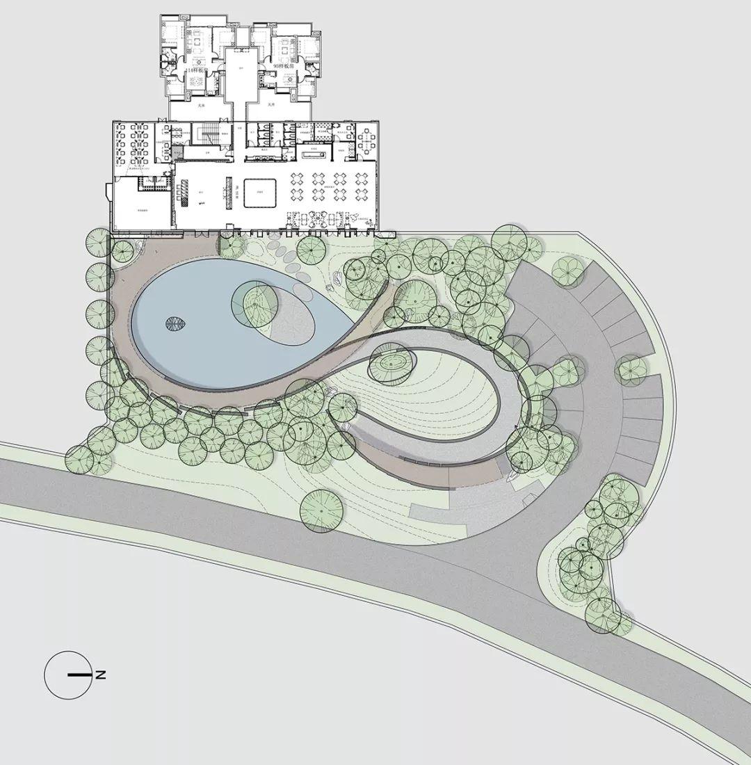 大场地生态园平面图