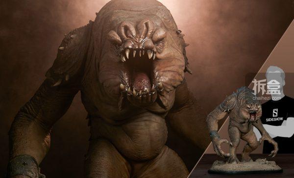 Sideshow《星球大战》怪兽Rancor兰苛29寸豪华雕像_贾巴