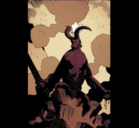 除此之外,王牌里还出现了一张这样的图片,图中是一个恶魔形象的怪物在破坏形象,而经过查询,图上的这个怪物正是贝利尔,传送中的地狱之王.图片