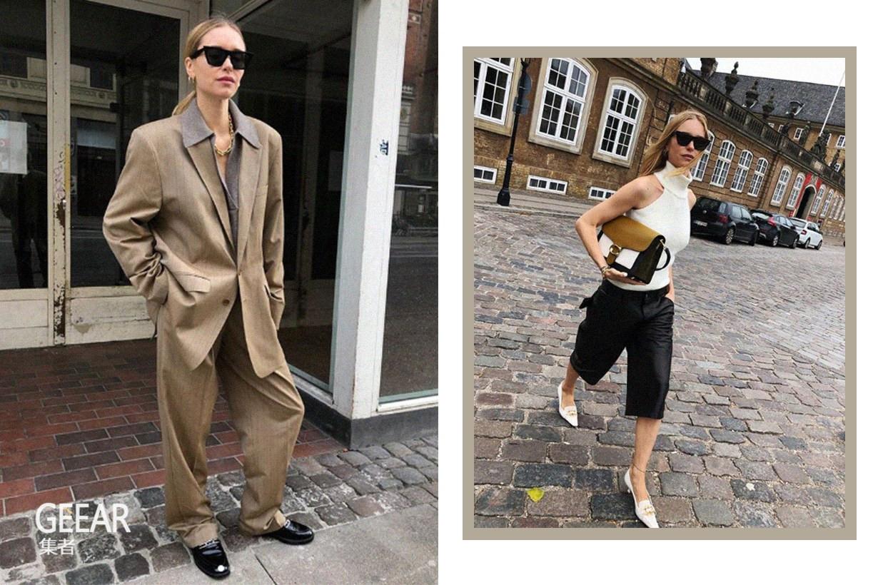 最会穿西装外套的博主!喜欢时髦北欧风的女生快看看她的Ins_套装
