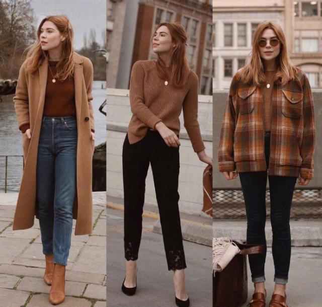 18套优雅气质的焦糖色秋冬穿搭,温暖的颜色跟冬季实在是太般配了
