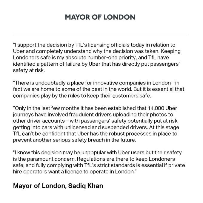最前线 | 安全隐患不断,Uber 被吊销伦敦运营资格