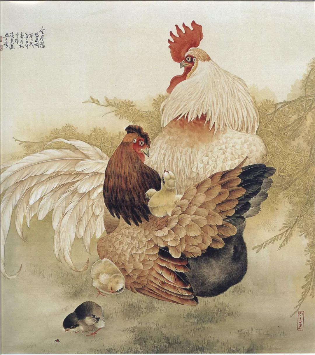 国画大师简直把鸡画活了,这样的画面太精彩看不够