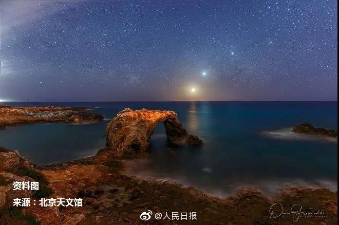 """""""四星連珠""""天文奇觀29日上演,想和誰一起看?"""