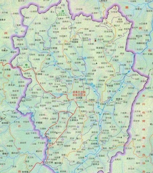 重庆市南川区规划图