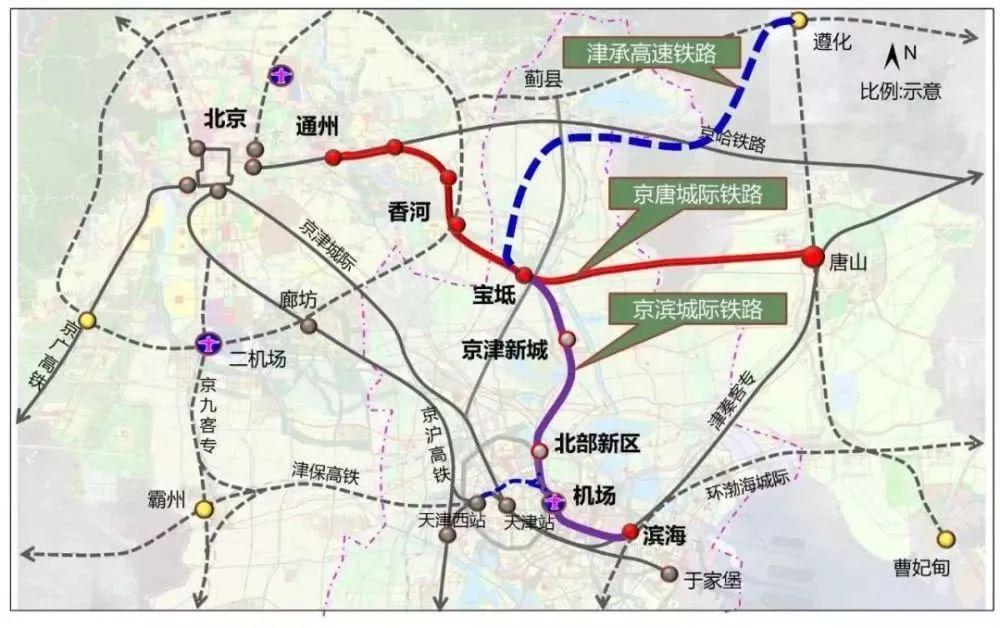 宝坻高铁规划图