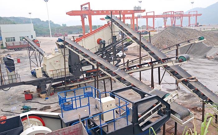 移动碎石机生产线