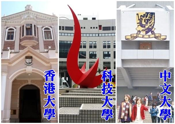 亞洲大學排名公布,香港三所大學均較去年下跌