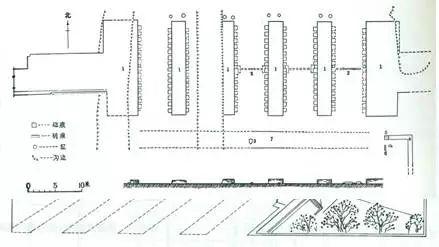 唐长安城明德门平面图