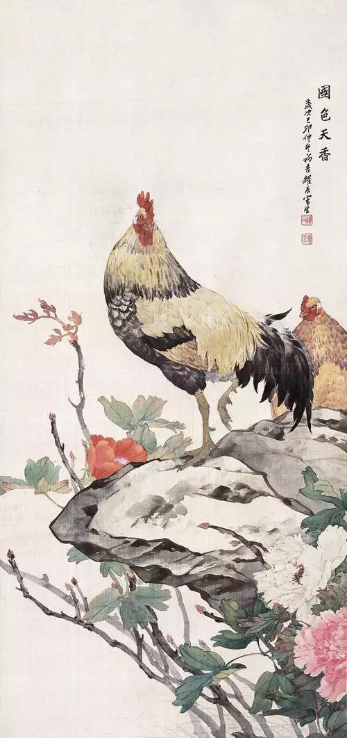 中国现代中国画家刘奎龄作品赏析