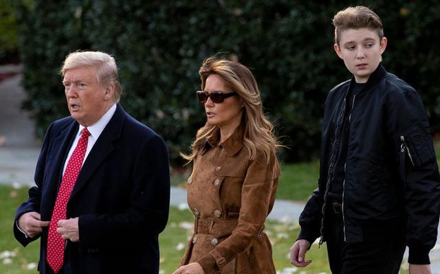 基因太强大了!特朗普13岁小儿子个头猛涨,身高已超过父母