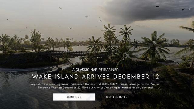 深圳红树林传《战地5》威克岛地图将于12月12日上
